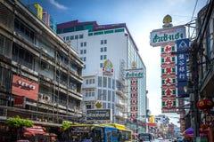 YAOWARAT, BANGKOK, TAILANDIA -10 GENNAIO 2016: Traffico nel mornin Immagini Stock