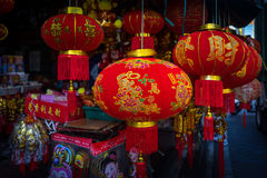YAOWARAT, BANGKOK, THAILAND -10 IM JANUAR 2016: Verkäufe des Zusatzes Stockfoto