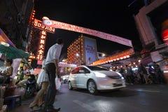 YAOWARAT CHINATOWN BANGKOK TAILANDIA Fotografía de archivo libre de regalías