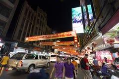 YAOWARAT CHINATOWN BANGKOK TAJLANDIA Fotografia Royalty Free