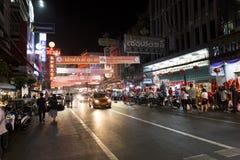 YAOWARAT CHINATOWN BANGKOK TAJLANDIA Zdjęcia Stock