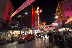 YAOWARAT CHINATOWN BANGKOK TAJLANDIA Zdjęcie Royalty Free