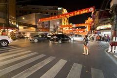 YAOWARAT CHINATOWN BANGKOK THAILAND Royalty-vrije Stock Afbeeldingen