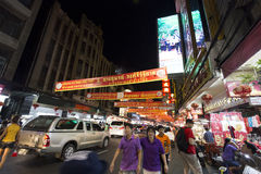 YAOWARAT CHINATOWN BANGKOK THAILAND Royalty-vrije Stock Fotografie