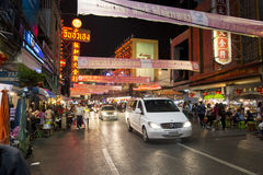 YAOWARAT CHINATOWN BANGKOK THAILAND Royalty-vrije Stock Foto's