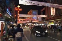 YAOWARAT CHINATOWN BANGKOK THAILAND Royalty-vrije Stock Afbeelding