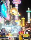 Yaowarat droga, Bangkok Fotografia Stock