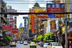 Yaowarat Road in Chinatown, Bangkok. The busy and colorful Yaowarat Road in Chinatown, Bangkok, Thailand stock photography
