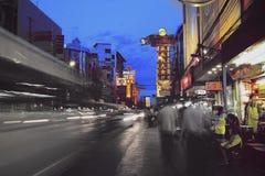 Yaowarat-Straße Lizenzfreies Stockfoto