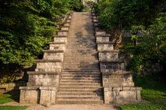 Yapahuwa en forntida fästning och huvudstad som byggs i det tidiga 13th århundradet i Sri Lanka Royaltyfria Bilder