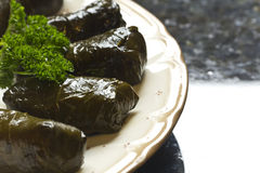 Yaprak Dolma, Stuffed Grape Leaves Royalty Free Stock Photos