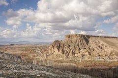 Yaprakhisar by i Cappadocia Arkivfoto