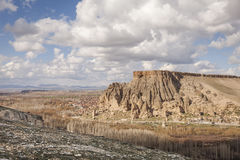 Yaprakhisar wioska w Cappadocia Zdjęcie Stock