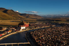The Yaqing Temple at dusk royalty free stock photography