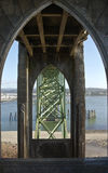 Yaquina海湾桥梁纽波特俄勒冈 免版税库存图片