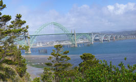 Yaquina Bay Bridge, Royalty Free Stock Photo
