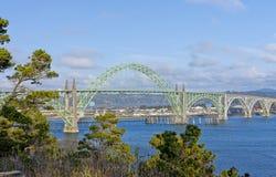 Yaquina Bay Bridge. Stock Photo