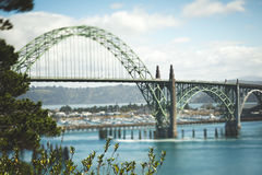 Yaquina Bay Bridge in Newport, Oregon Stock Photo
