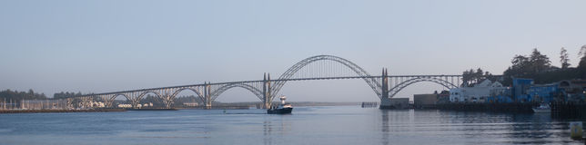Yaquina Bay Bridge Panoramic Royalty Free Stock Images