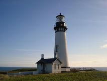 Yaquina Bay Lighthouse royalty free stock photography