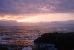 Yaquina Bay sunset Stock Images