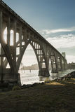 Yaquina-Bucht-Brücke in Newport, Oregon Stockbild