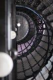 Yaquina głowy latarni morskiej klatka schodowa Zdjęcie Stock