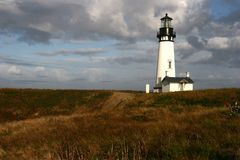 Yaquina Head Light house Stock Photo
