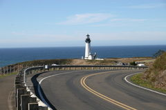 Yaquina Head lighthouse. Approaching from the highway by foot Royalty Free Stock Images