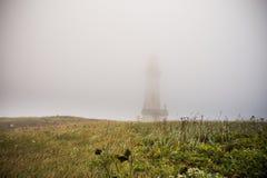 Yaquina Head Lighthouse Fog Stock Photos