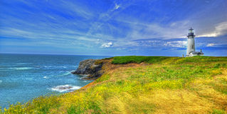Yaquina Head Lighthouse HDR Royalty Free Stock Photography