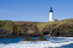 Yaquina Head lighthouse in Oregon Royalty Free Stock Images