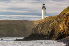 Yaquina Head Lighthouse at Pacific coast, built in 1873 Stock Photos