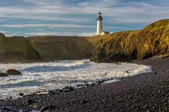 Yaquina Head Lighthouse at Pacific coast, built in 1873 Stock Photo