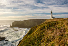 Yaquina Head Lighthouse at Pacific coast, built in 1873 Royalty Free Stock Photo