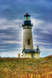 Yaquina Head Lighthouse portrait HDR Royalty Free Stock Images