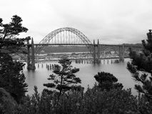 Yaquina zatoki most - Newport Oregon usa Obrazy Royalty Free