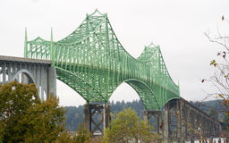 Yaquina zatoki mosta autostrada 101 Newport Oregon Stany Zjednoczone Zdjęcia Royalty Free