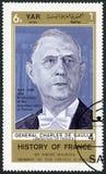 YAR - 1969: przedstawienia Charles De Gaulle 1890-1970, polityk obraz royalty free