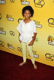 Yara Shahidi arriving at the Premiere Of Disney Channel's   Stock Photo