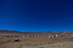 The Yarchen Gar Buddhist institution near Serthar in Kham, Eastern Tibet. Stock Photos