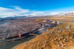 Yarchen Gar gigantyczny tibetan monaster Kham Zdjęcia Royalty Free