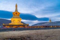 Yarchen Gar Monastery Arkivfoto
