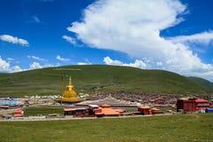 Yarchen Gar Monastery dans Garze tibétain images libres de droits