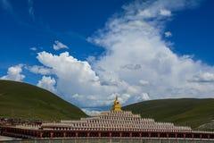 Yarchen Gar Monastery dans Garze tibétain images stock