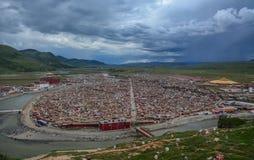 Yarchen Gar Monastery in Garze Tibetan stock photography