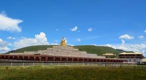 Yarchen Gar Monastery i Garze, Kina Royaltyfria Foton