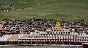 Yarchen Gar Monastery i Garze, Kina Royaltyfri Fotografi