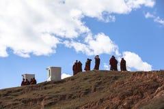 YARCHEN GAR, THE WORLD´S SECOND BIGGEST BUDDHIST SCHOOL IN SICHUAN, CHINA stock photos