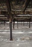 Yard abandonné de rail Image stock